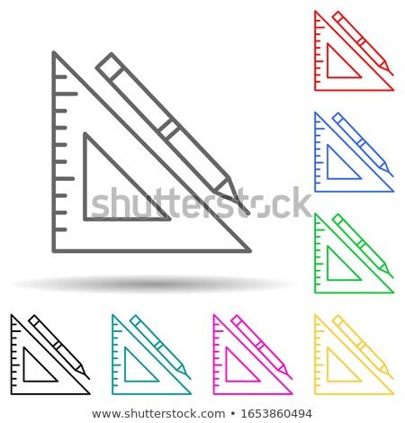 építkezés szerszámok tér vektor rózsaszín ikon Stock fotó © rizwanali3d