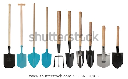 small hand garden rake isolated stock photo © michaklootwijk