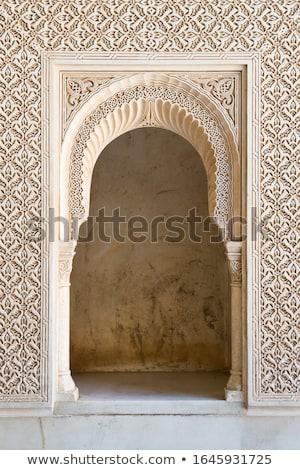 çeşme · alhambra · saray · İspanya · mimari - stok fotoğraf © rmbarricarte