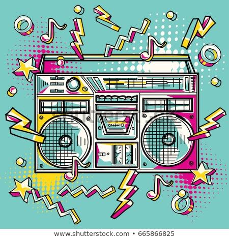 Colored doodle speaker Stock photo © netkov1