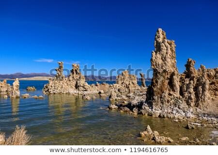kaya · oluşumu · İspanya · kanyon · gökyüzü · duvar · soyut - stok fotoğraf © pedrosala