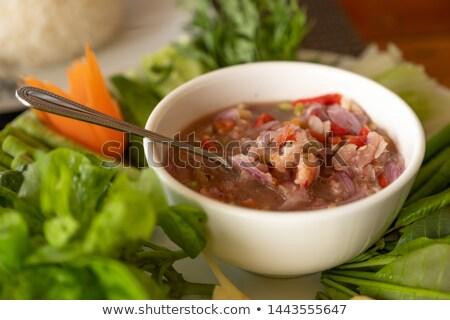 Fresh Shrimp paste Stock photo © vichie81