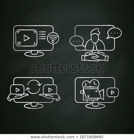デジタル · ビデオカメラ · ビデオ · 写真 · 白 · レンズ - ストックフォト © rastudio