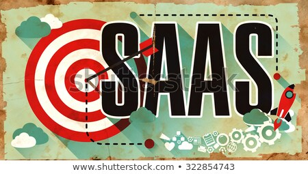 SAAS on Grunge Poster in Flat Design. Stock photo © tashatuvango