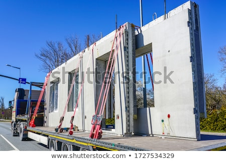 Load securing with lashing strap Stock photo © Zerbor