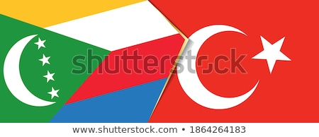 Turkey and Comoros Flags  Stock photo © Istanbul2009