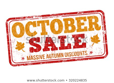 Rubber stamp autumn offer Stock photo © Ustofre9