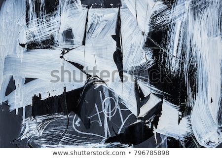 page of black grunge graffiti tags on white Stock photo © Melvin07