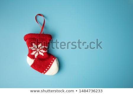 baby in Christmas socks Stock photo © adrenalina