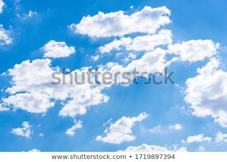 美しい 白 ふわっとした 雲 空 抽象的な ストックフォト © morrbyte