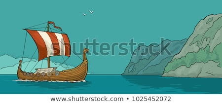 The ship floats about mountain. Stock photo © Paha_L