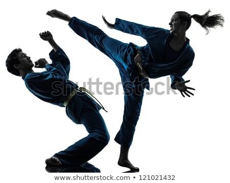 Kung fu girl high kick Stock photo © Paha_L