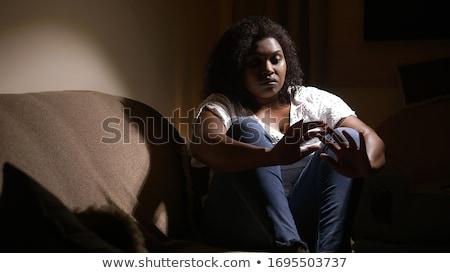 Violenza vittima donna sangue lotta depressione Foto d'archivio © mirusiek