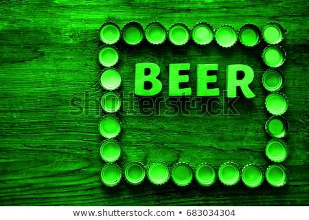 otwarte · piwa · górę · szkła · tle - zdjęcia stock © stevanovicigor