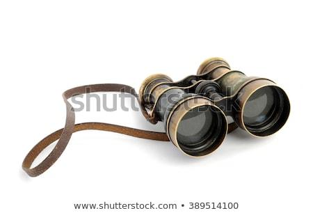 öreg · látcső · izolált · fehér · szem · sport - stock fotó © taigi