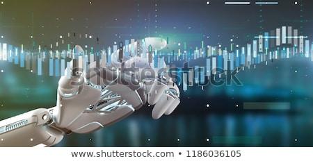 株式市場 · ロボット · 取引 · 手 · ノートパソコンのキーボード · 交換 - ストックフォト © idesign