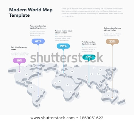 world globe template for your infographics reports stock photo © orson