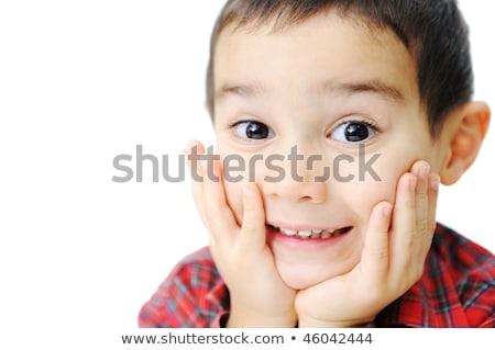 menino · sardas · caucasiano · retrato · água · cara - foto stock © zurijeta