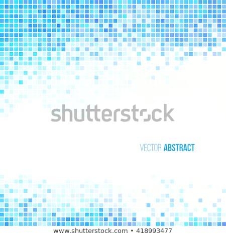 голубой Пиксели мозаика свет темно синий Сток-фото © romvo
