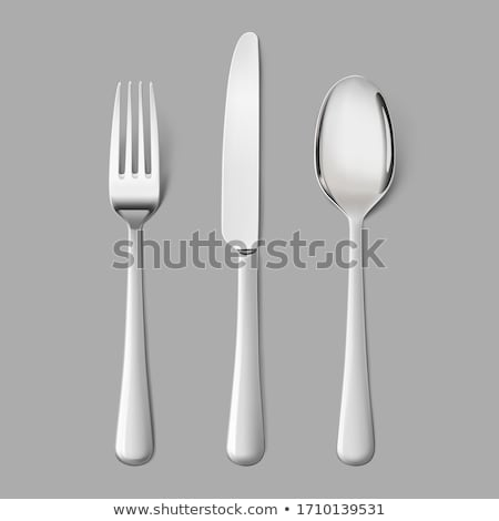 clean fork and spoon Stock photo © your_lucky_photo