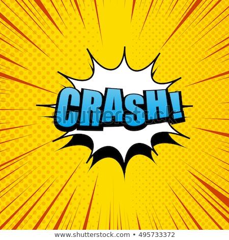 Cartoon Comic Book Crash Explosion Sound Effect Stock photo © Krisdog