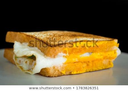 Zdjęcia stock: Szynka · ser · jaj · kanapki · deska · do · krojenia · żywności