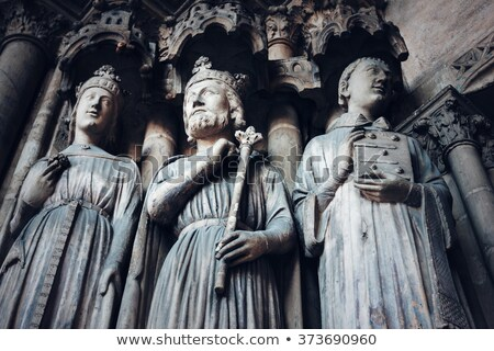 Gothic Background with Ancient Kings and Saints Stock photo © dariazu