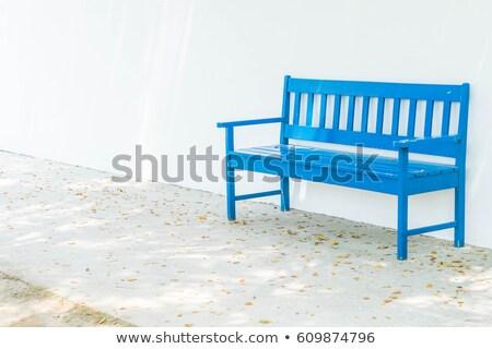 Niebieski ławce ilustracja biały tle Zdjęcia stock © bluering