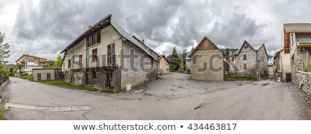 village of Le Vernet in the french Alpes Stock photo © meinzahn