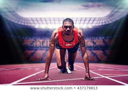 Сток-фото: изображение · спортсмена · человека · оранжевый · обувь