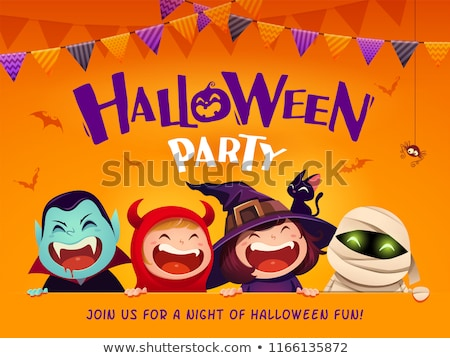 thanksgiving and halloween party invite background stock photo © stephanie_zieber