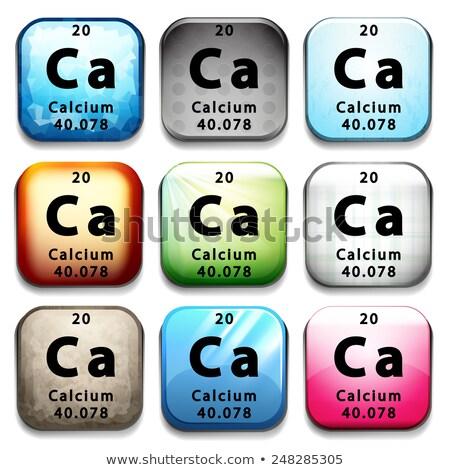 Botão químico elemento cálcio branco Foto stock © bluering