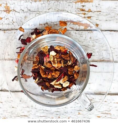 Vue chaud hibiscus thé verre mug Photo stock © ozgur
