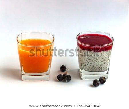 Frozen aronia berries in a bowl Stock photo © stevanovicigor