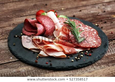 salami and cured ham Stock photo © M-studio