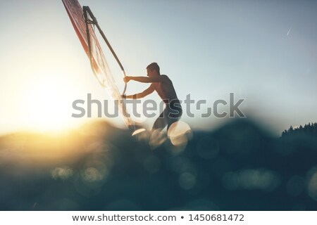 Man sailing on windsurf Stock photo © bluering