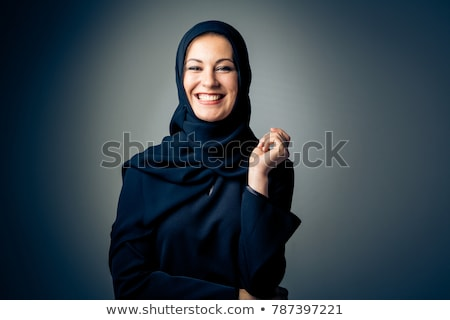 Muslim woman in black dress Stock photo © bluering