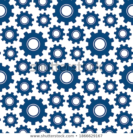 Different silhouettes of cogwheels on blue, seamless pattern stock photo © Evgeny89