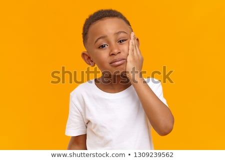 Little boy having toothache Stock photo © bluering