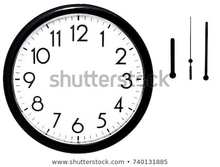 Black empty clock without arrows stock photo © Oakozhan