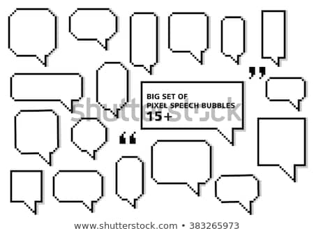 Stock photo: Pixel text bubble. Speech bubble icons. Vector illustration