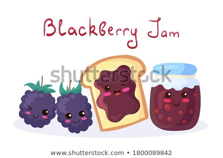vector cartoon set of funny fruit jelly faces on white backgroun Stock photo © freesoulproduction