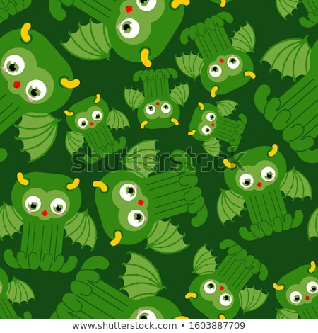Octopus seamless pattern. Vector background green kraken. Retro  Stock photo © MaryValery