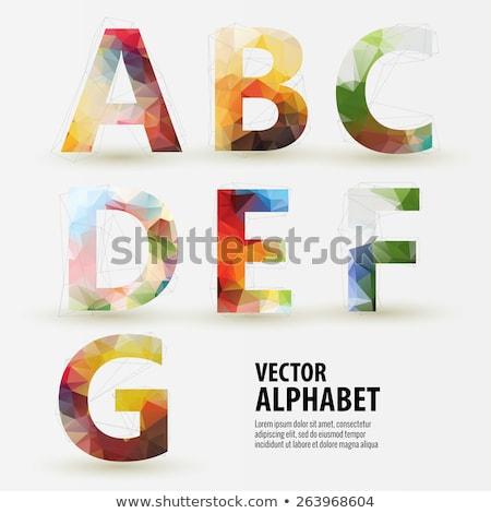 triangular multicolored alphabet stock photo © panaceadoll