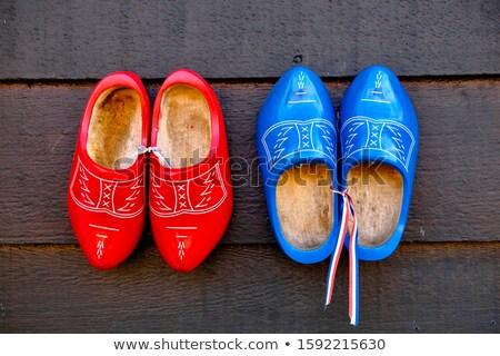 Holland fából készült cipők unesco fa cipő Stock fotó © compuinfoto