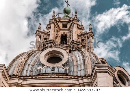 Święty mikołaj kościoła kolumnie Rzym Włochy kamień Zdjęcia stock © boggy