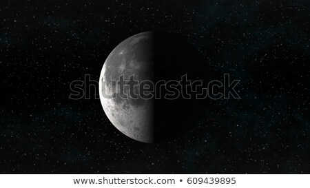 Moon in last quarter phase on a background of stars Stock photo © Noedelhap