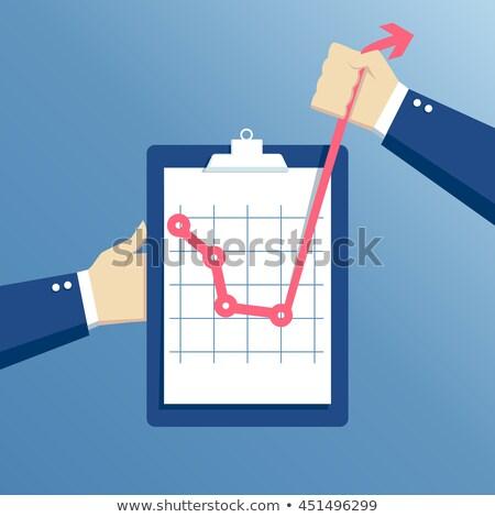 clipboard an arrow business graph Stock photo © alexmillos