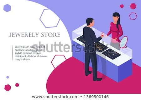 ilustração · colar · casamento · pedras · moda - foto stock © robuart