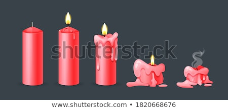 red candles stock photo © simply
